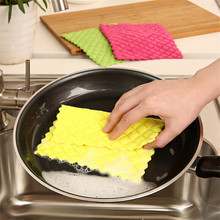 High Efficient ANTI-GREASY color dish cloth,colorful Washing Dish Towel,Magic Kitchen Cleaning Cloth,Wiping Rags(China)