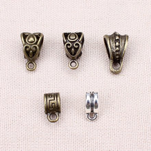 Buy 20pcs/lot Zinc Alloy Antique Silver/Bronze Necklace Pendant Carrier Connector DIY Jewelry Findings for $1.05 in AliExpress store