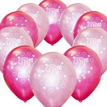 10 Pcs/set Creative Printing Balloons Baby 2 Years Old Birthday Balloon Party Decoration Creative Happy Birthday Supplies