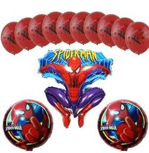 13pcs/lot The Avengers Spiderman Balloons Foil Balloon Latex Balloons Birthday Party Supplies Kids Toys(China)