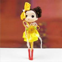 Fashion Doll 18cm Bright Cap Qimonda Confused Doll Pendant Wholesale Korean Animation Around Kid Toy Dolls 12pcs/lot