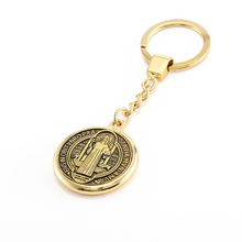 Saint Jesus Christ Golden Plated Pendant Keychain Keyring For Keys Chain Ring Holder Finder Women Men's Bag Handbag Purse Charms(China)