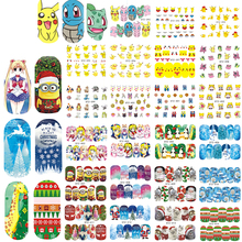 1000 x Mix Decals Nail Art Water Transfer Flower/Cartoon/Christmas Nail Sticker Beauty Full Wraps Nail Tips Decor LASTZ352-439