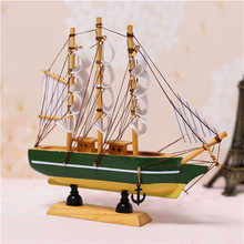 Solid Wood Yacht Sailing Model Set Pirate Ship Small Ornaments Interior Accessories Brand Hot Random Color Birthday Present