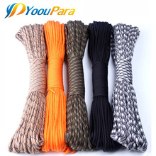 250 Color Paracord 550 Tent Wind Rope Type III 7 Stand 100FT 50FT Paracord Parachute Cord Outdoor Camping Survival kit Wholesale(China)