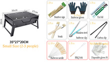 Portable Charcoal BBQ Grill Family Party Outdoor Camping Barbecue Cooking Tools And Free BBQ Gifts With Barbecue Steel Grill(China)