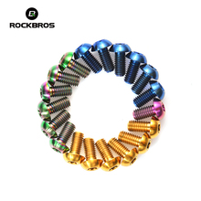 ROCKBROS M5*10mm Titanium Alloy Bike Bolts Bicycle Parts Bolts Brake Disc Screws For MTB Mountain Road Bike 5 Colors 6 Pieces
