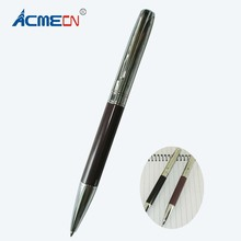 ACMECN Classic & Elegant Metal Ball Pen Burgundy and Black Brand style Ballpoint Pen Smooth Writing Instrument MB Ball Pens(China)