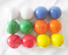 free shipping , 6.3cm diameter 12pcs /lot round  stress ball(A231),6 colors mixed pu ball ,pu squeeze ball