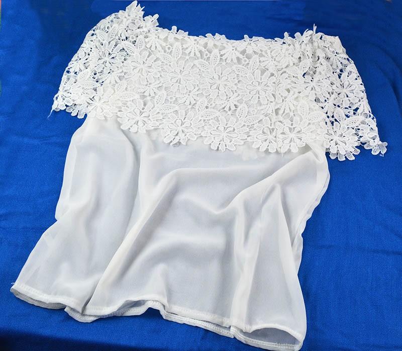 Как отбелить кружева на блузке
