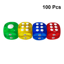 100pcs Dices 6-Sided 14mm Rounded Corner Dice Accessory for Teaching Game Favors(China)