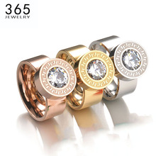 New Arrive Trendy Exchange 7 Colors CZ Stone Rings Brand 316l Stainless Steel Engraving Interchangeable Rings