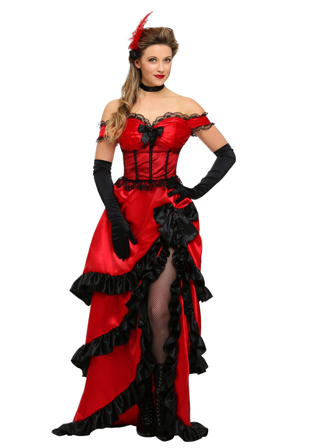 IREK adult plus-size saloon girl costume classic Halloween cosplay costume for carnival festivals luxury quality
