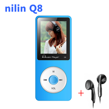 Sport headphone mini mp3 player with 1.8 inch screen radio fm lossless hifi music mp3 player hi-fi nilin Q8 mp 4 player 8gb mp-3(China)