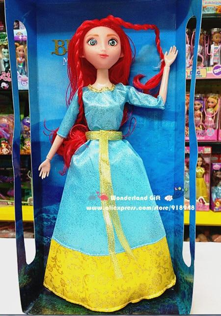 31cm tall Meri da princess PVC action figure,Brav red hair girl,doll for girls,best birthday/Christmas gift,toys for kids dolls<br><br>Aliexpress