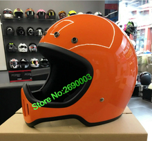 MOKALA SPEED the big New Vintage bike helmet body style V-2 Harley motorcycle helmet Orange Colour(China)