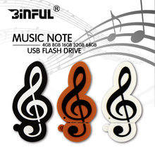 Pendrive 16GB 8GB 4GB Music note Cartoon Flash Disk Memory USB USB Flash Drive 128GB 64GB 32GB Pen Drive USB 2.0 Stick gift(China)