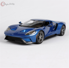 1/18 Scale US 2017 Ford GT Yellow/Silver/blue 3 color Diecast Model Car Doors Openable Car Kids Toys brinquedos Gift Collection