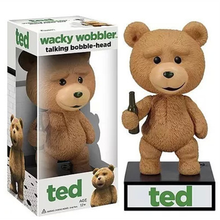 High Quality PVC Talking Ted Wacky Wobbler Bobble Head 15cm Teddy Bear Adult Action Figures Kids Gift Dolls Decoration On Sale
