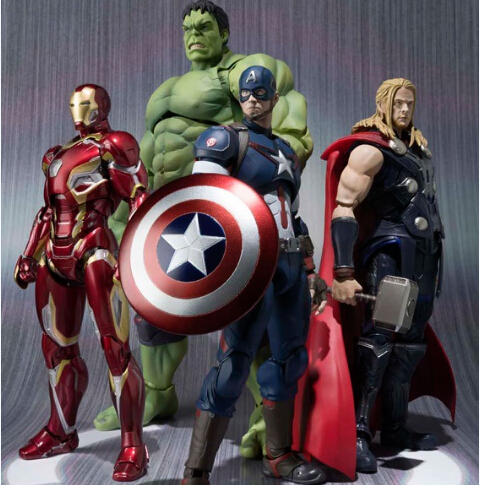 NEW hot 16-22cm Avengers thor Iron man hulk Captain America movable Action