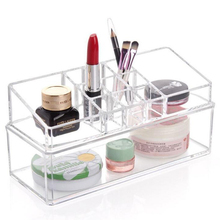 Boutique Crystal Acrylic Cosmetic storage box/high quality jewellery box storage tools(China)