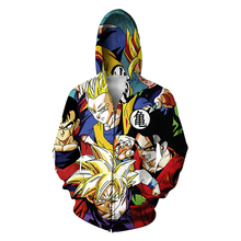 Fashion New Men Winter Jacket Dragon Ball Z Son Goku Anime Jacket Hoodie Funny Sugar Rush Kid Buu All Over Print Hooded Jacket(China)