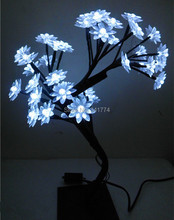 Mini LED cherry lotus tree Night lights tree branches lamps indoor lighting Christmas new year wedding Luminaria home decoration(China)