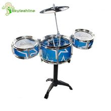 Skyleshine Blue Jazz Drum Toys High Quality Music Learning Machine Noise Maker Musical Instrument Kids Toys Gift#ML0265