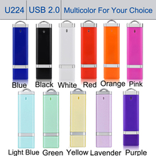 10pcs/lot Creation Gifts USB 2.0 Flash Drive 1GB Pendrive USB Stick Storage Device Pens Drive Bulk Candy Color Jump Drive Travel