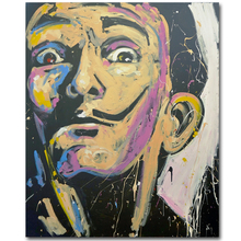 Large Size Print Salvador Dali Abstract Portrait Pop oil Painting Home Decorative Wall Art Picture For Living Room painting(China)