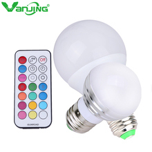 New RGBW E27 LED Bulb 5W 10W Dimmable LED Lamp 220V 110V Pure White RGB Spot Light with Dimmer Remote Controller(China)