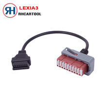 2017 High Quality Lexia3 PP2000 30pin cable Lexia-3 PSA 30pin cable Lexia 3 30 pin to OBD 16 pin cable free shipping(China)