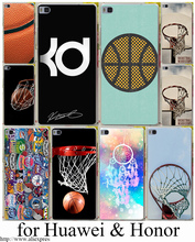 Basketball Logo La Hard Transparent Case Cover for Huawei p10 P6 P7 P8 P9 P10 Lite Plus & Honor 8 8lite 6 7 4C 4X G7