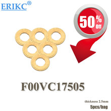 ERIKC common rail fuel dispenser spare parts copper shims (thickness=2.5mm) Hot Sale copper gasket washer size: 7.1*15*2.5mm(China)