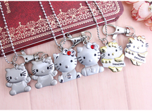 10pcs hot fashion Cat Face with Pink Diamond Hello Kitty Pocket Watch for gift