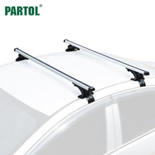 Partol Universal 120CM Car Roof Racks Cross Bars Crossbars 68kg 150LBS Work With Kayak Cargo Luggage Ski Rack Mounted On Rooftop(China)