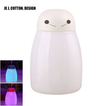 400ML Anion Humidifier Mist Maker with Night Light Aromatherapy Diffuser Aroma Essential Oil Air Freshener Humidifiers for Home