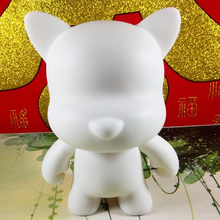 Good Munny Series Blank Kidrobot Collectible Vinyl Toy Figurine 1/16 Blank Funny Dog Or Cat Use Edu Teaching Watercolor Draeing(China)