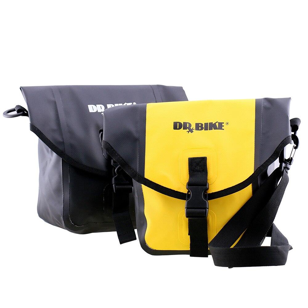 Waterproof PU Bike Bicycle Handlebar Bags Front Pannier Basket Shoulder Bag