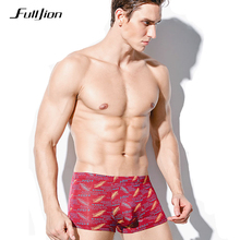 Buy Fulljion Shorts Mens Underwear Boxers Modal Breathable Sexy Men Boxer Printed cuecas Boxers Underwear Plus Size male Underpants