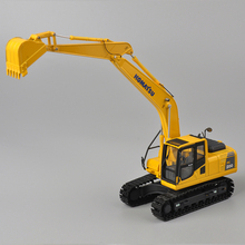 KOMATSU 1:50 Scale PC200 Type Yellow Excavator Diecast Model Best Gifts Decorations Engineering Vehicle Models