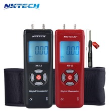 NKTECH NK-L2 LCD Digital Manometer Differential Gauge Air Pressure Meter 2Psi Data Hold 11 Units manometro air compressor gauge
