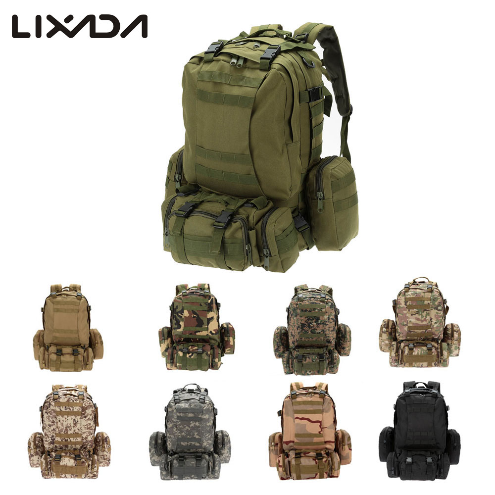 Lixada Outdoor Sports Camping Hiking Climbing Cycling Bag Multifunction Military Tactical Backpack MOLLE Webbings Bags