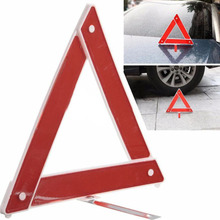 VEHEMO Car Reflective Foldable Triangle Road Sign Kits Sets Emergency Hazard Breakdown Warning Board Red ABS Plastic(China)