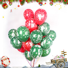 LDTEXMY 10 Inch 2.2g/pcs 100pcs Christmas Latex Balloons Printed Balls Party Decorative Holiday Helium balloon Toys(China)