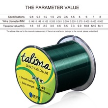 High Quality Nylon Fishing Line 500m Extra Strength Nylon Mainline Wear-resistant Fly Fishing Line Imported Raw drop shippi(China)
