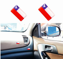 Chile Flag Car-styling Accessories Discount National Chile Flags Car Window Door Handle Steering Wheel Audio Home Phone Emblems
