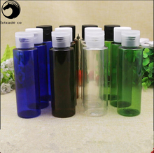50 pcs Free Shipping 100 ml Empty Plastic Packaging Bottles Parfume Essential Oil Refillable Pack Cosmetic Containers Wholesale(China)
