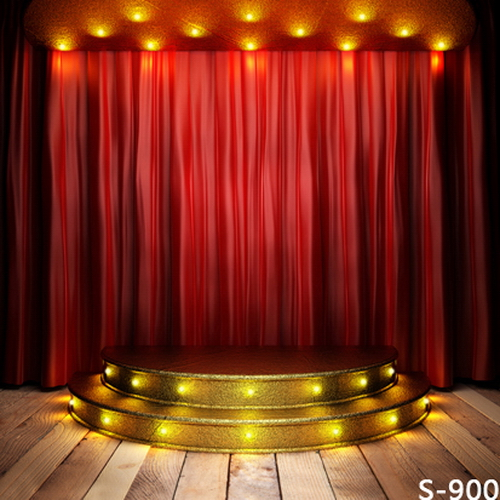 Newest 5*6.5ft Spark Golden Light Red Curtain Stage Background for Kids/Wedding Digital Printed Vinyl Backdrops Photography<br><br>Aliexpress