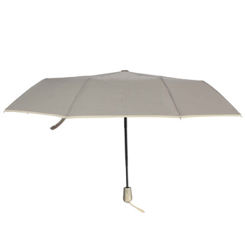 Susino Windproof Umbrellas Fully-automatic Open Sturty Metal  Pongee Compact Durability Three-folding Umbrella 3509 Beige